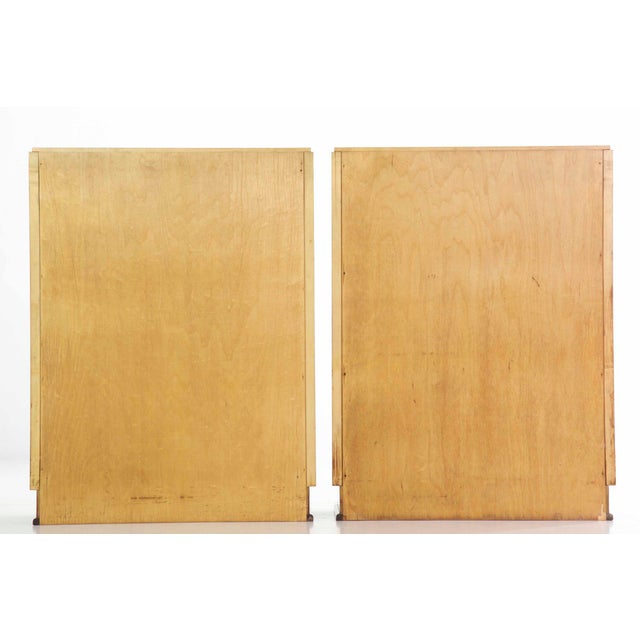 Art Deco Birch & Rosewood Vitrine Bookcase Cabinets circa 1930 - A Pair For Sale - Image 4 of 11