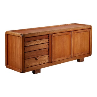 Pierre Chapo B10 Elm Sideboard, France, 1960s For Sale