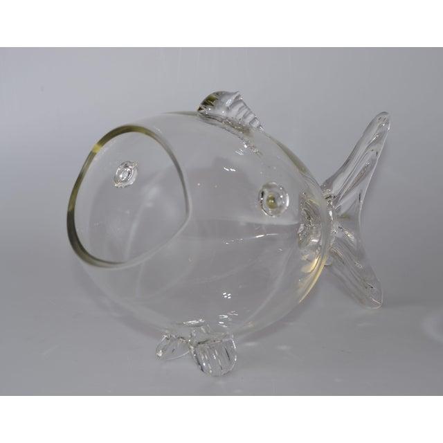 Blenko Handblown Glass Fish Candy Bowl - Image 2 of 9