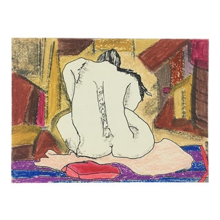 Charles M. Bowdler Nude Ink & Crayon on Paper