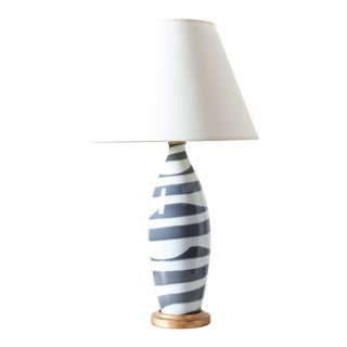 Zebra Table Lamp For Sale
