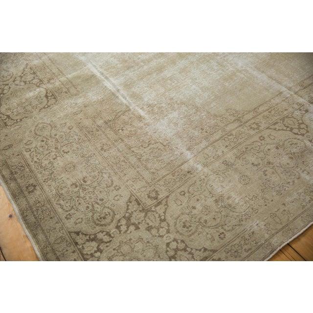 "Old New House Vintage Distressed Tabriz Carpet - 9' X 12'9"" For Sale - Image 4 of 13"