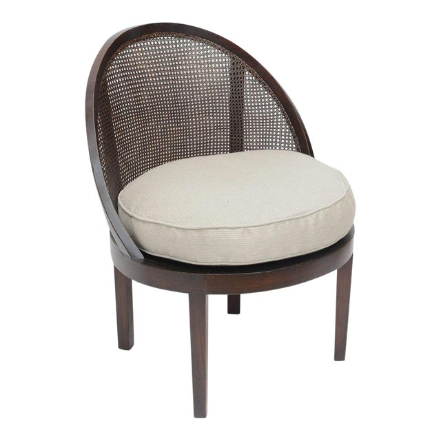 Distinctive Mahogany Cane Back Chair For Sale