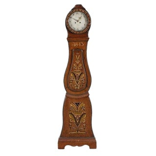 Antique Folk Swedish Mora Clock, Circa 1845 For Sale