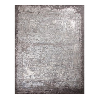 """Hand Knotted Modern Wool & Silk Rug - 7'11"""" X 10' For Sale"""