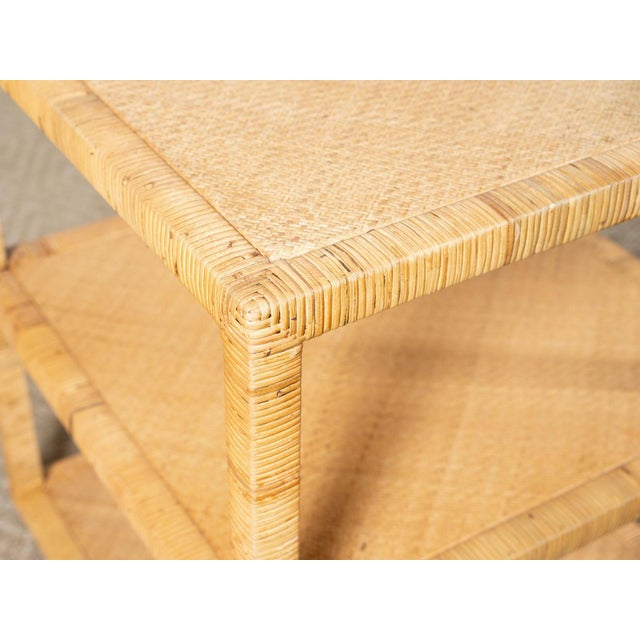 Modern Modern Woven Rattan Side Table For Sale - Image 3 of 6