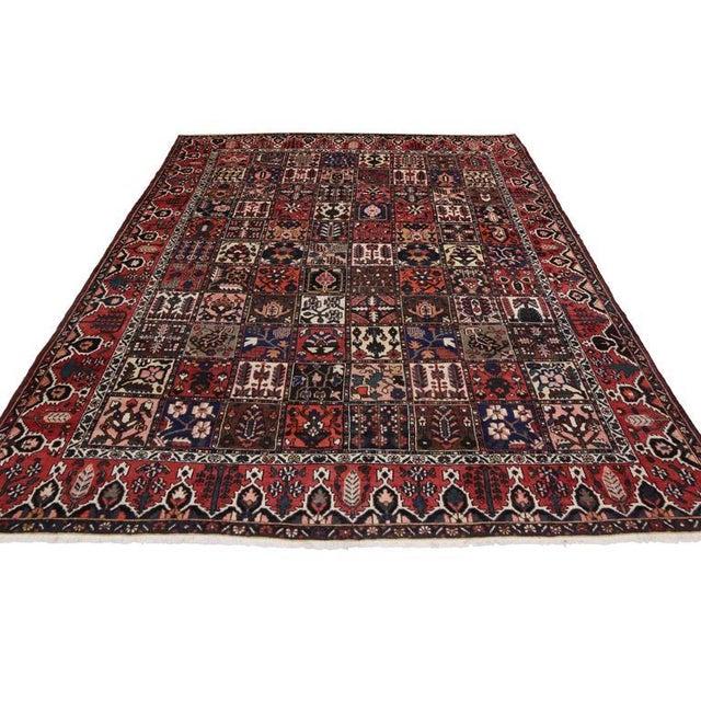 Contemporary Antique Persian Bakhtiari Rug with Four Season Garden Design For Sale - Image 3 of 8