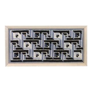 1960s Framed Geometric Needlepoint For Sale