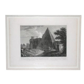 18th Century Roman Engraving For Sale