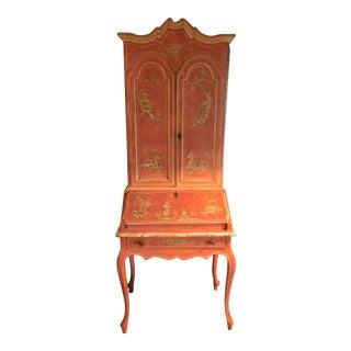 1950s Italian Florentine Secretary Desk For Sale