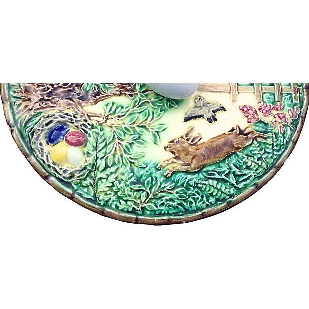 Blue Antique Majolica French Green Tureen For Sale - Image 8 of 11