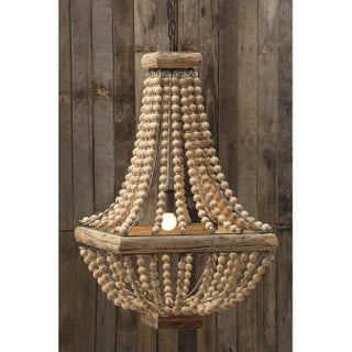 French Empire Wood Bead Chandelier Preview