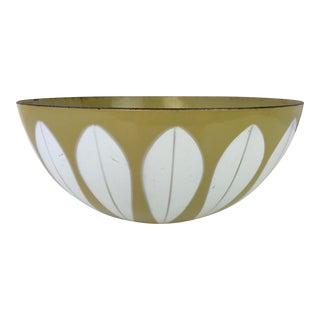 1960s Cathrineholm Lotus Enamel Bowl For Sale
