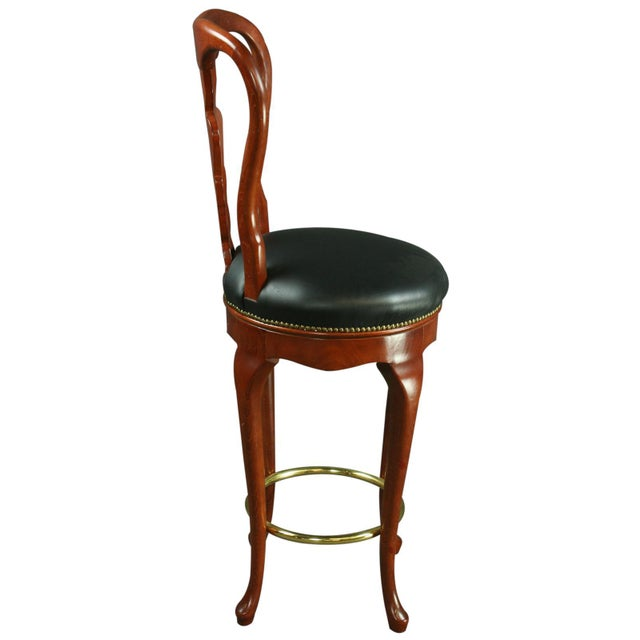 Queen Anne New Bar Stools - Pair For Sale In Columbia, SC - Image 6 of 6