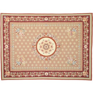 New Traditional Area Rug With French Aubusson Style - 8′8″ × 11′10″ For Sale