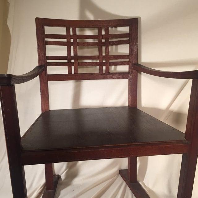 Modernist Oak Armchair - Image 5 of 6