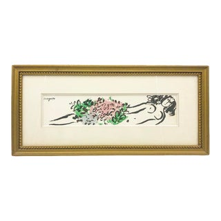 Chagall Authentic Lithograph Framed Artwork For Sale