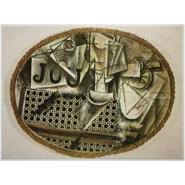 "Abstract 1971 Pablo Picasso, ""Still Life at the Cane Chair"" Original Period Photogravure For Sale - Image 3 of 9"