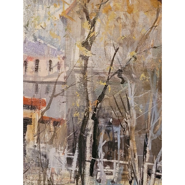 1960s French Impressionist Style Rural Scene Oil Painting by Lucien Delarue, Framed For Sale In Chicago - Image 6 of 6