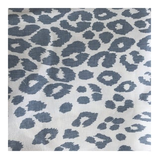 "Schumacher ""Iconic Leopard"" Fabric in Sky - 1.5 Yards"