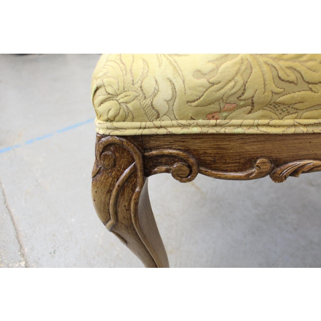 Pair of Vintage French Tufted Fireside Ladies Parlor Arm Chairs For Sale - Image 9 of 13