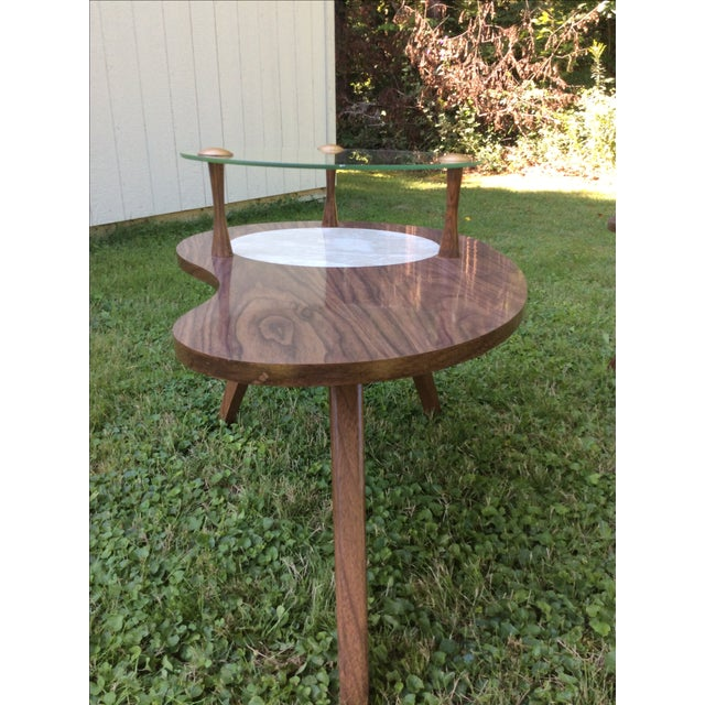 Mid-Century Formica & Glass End Table - Image 2 of 7