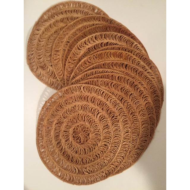 Vintage Round Grass Placemats - Set of 12 - Image 3 of 3