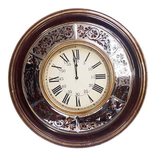 Large Classic Wall Clock Bevel Mirror 36""