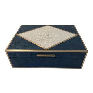 Brass Inlay Shagreen Box