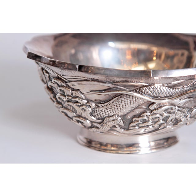 Mid 20th Century Japanese Silver Bowl For Sale - Image 5 of 13