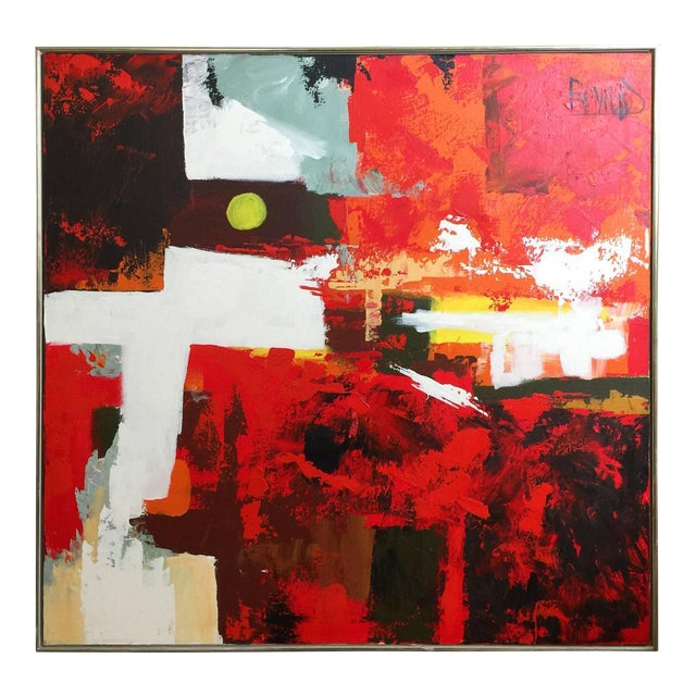 1960s Abstract Oil Painting by Lee Reynolds - Image 1 of 5