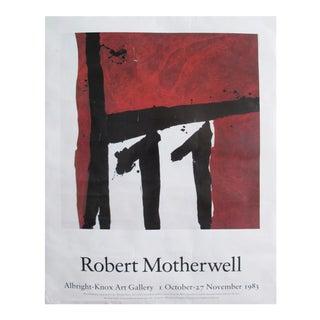 1983 Original Exhibition Poster, Robert Motherwell