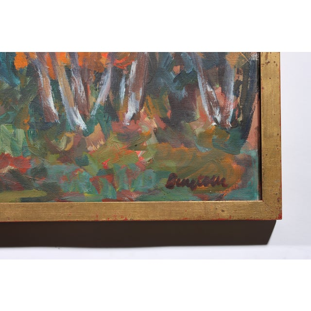 """Vintage """"Autumn Color"""" Oil Painting - Image 3 of 3"""