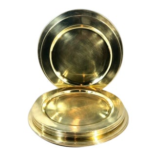 Vintage Brass Charger Plates - Set of 10 For Sale