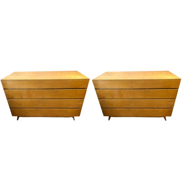 1960s Golden Birch Mid-Century Modern Swedish Dressers - a Pair For Sale