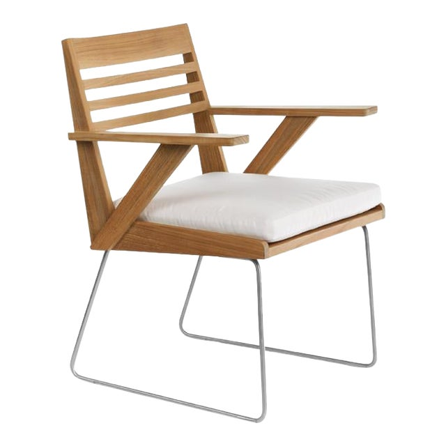 Summit Furniture Boomerang Dining Arm Chair For Sale