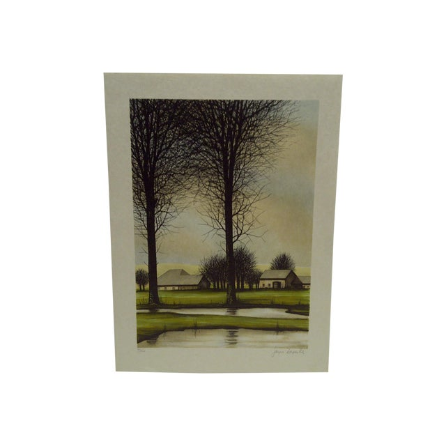 """Limited Edition """"Two Trees"""" Signed Print by Deperthes For Sale"""