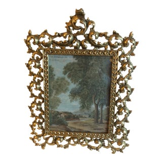 Late 19th C. Bronze Picture Frame For Sale