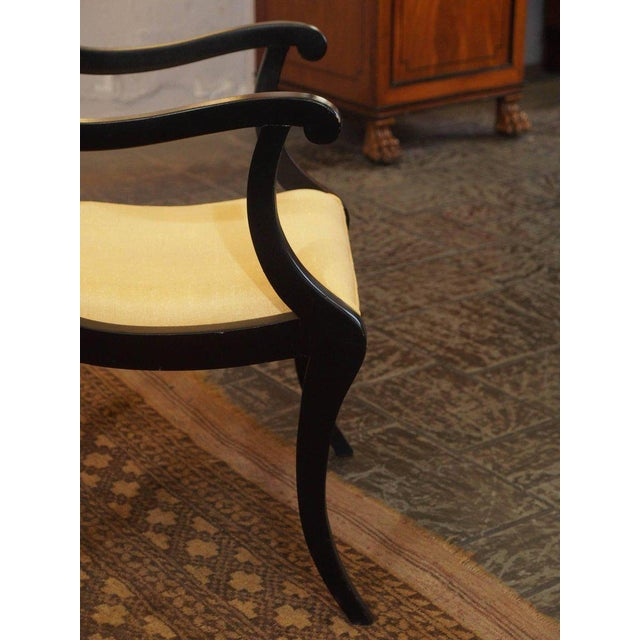 Set of Eight Ebonized Dining Chairs, Regency Style, circa 1920 For Sale In New Orleans - Image 6 of 10