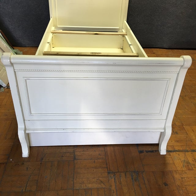 White Twin Bed with Drawers - Image 7 of 8