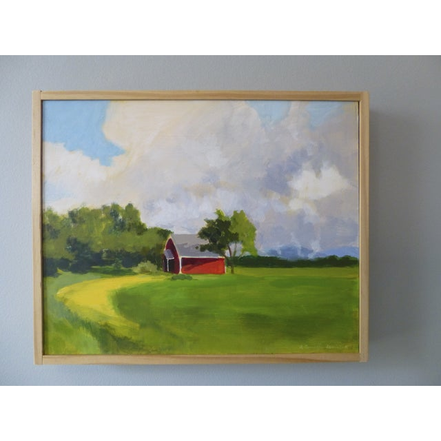 Original Painting - Red House in Vermont - Image 5 of 5