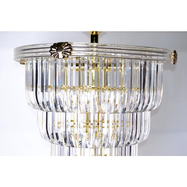 Brass & Lucite Chandelier - Image 3 of 9