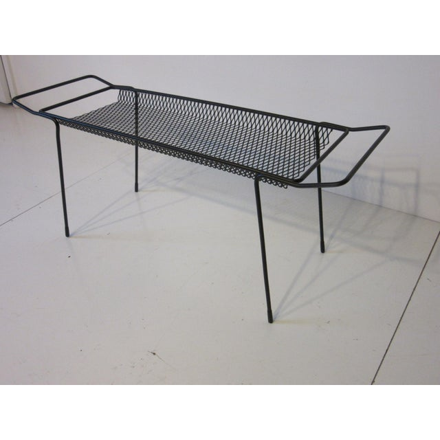 Mid-Century Modern Maurice Ducin Iron Magazine Rack For Sale - Image 3 of 8