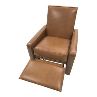 Modern Mitchell Gold + Bob Williams Felix Leather Recliner For Sale