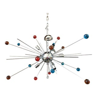 Vintage Murano Glass Triedo Sputnik Chandelier For Sale