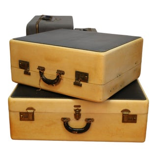 Vintage Goat Skin Set of 4 Luggages For Sale
