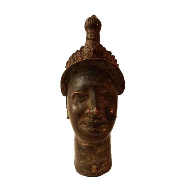 """Benin Royal Bronze Queen Mother Nigeria African 10"""" h For Sale"""