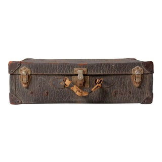 Vintage Leather Luggage Suitcase For Sale
