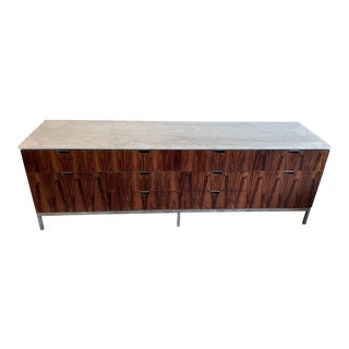 Florence Knoll Marble Top Storage Console For Sale