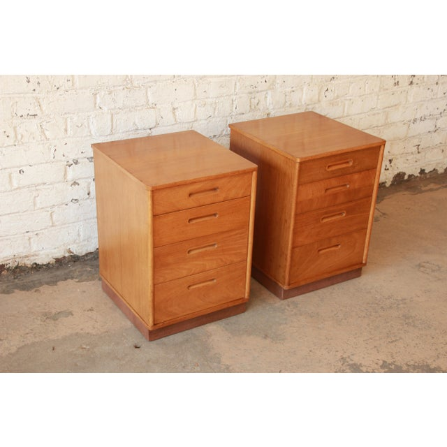 Animal Skin Edward Wormley for Dunbar Mid-Century Nightstands - a Pair For Sale - Image 7 of 11